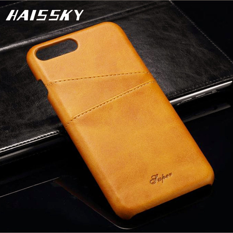 Vintage Luxury PU Leather Case For Iphone 7 Flip Cover Wallet Fundas Coque Stand Function Soft