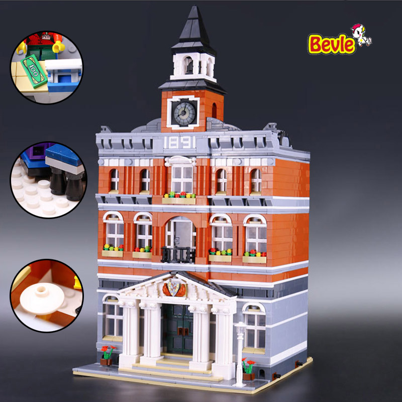 ФОТО LEPIN 15003 Creators The Town Hall Model Building Kits Block Kid 2859Pcs Bricks Compatible With Lepind 10224