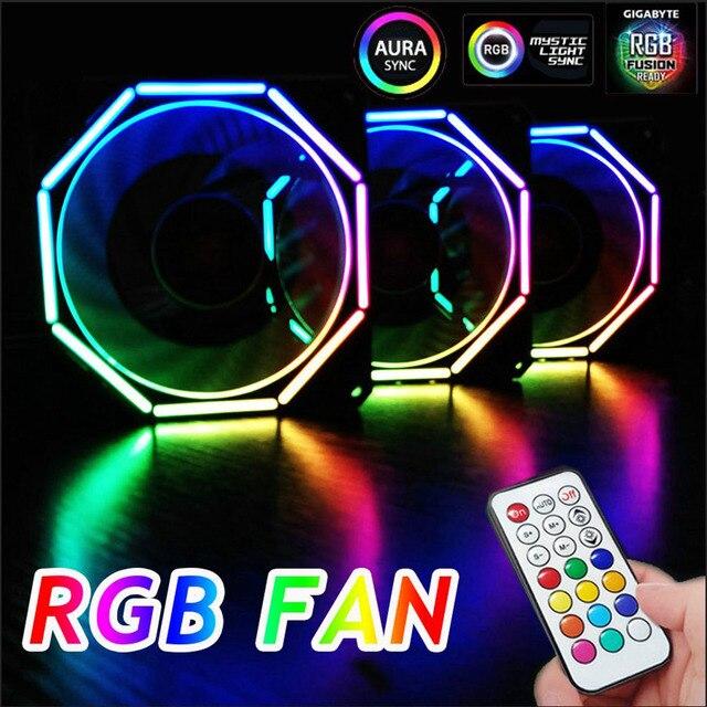 Computer Fall PC Lüfter Licht Bar RGB Einstellen LED Lampe Streifen 120mm Kühler Fan Licht