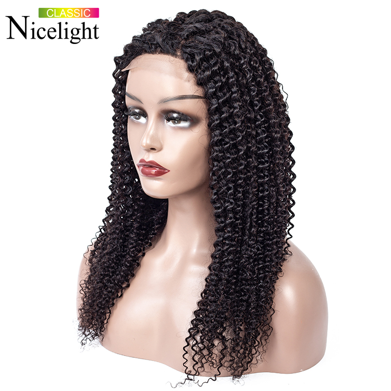 Kinky Curly Closure Wig Human Hair Wigs Nicelight Peruvian Wig Closure Wigs Lacewig 100% Human Wig Remy Hair Lace Wigs 8-24inch