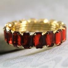 Qn170302 красные Хрустальные шарики держатель для салфеток Кольцо Для Салфеток