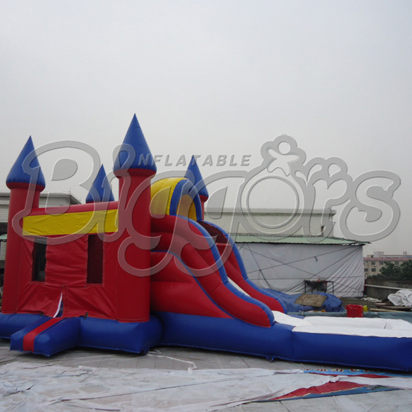 FREE SHIPPING BY SEA Outdoor PVC Commercial Inflatable Bouncer Inflatable Slide Bouncy Castle Combo For Sale free shipping by sea kid inflatable bouncer for sale with inflatable slide