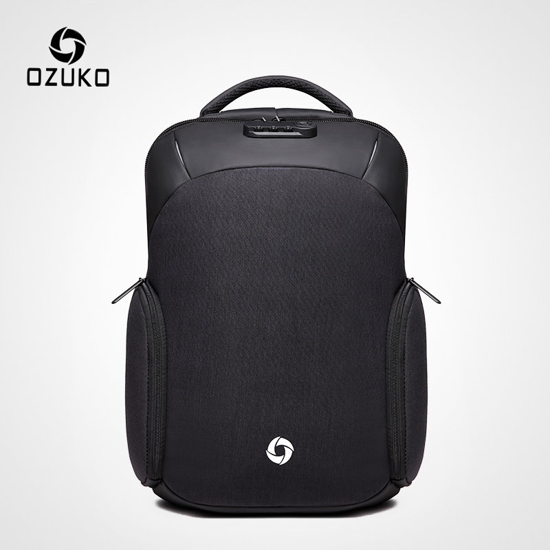 OZUKO Men s Anti theft Backpack USB Charging 15 6 inch Laptop Backpacks for Teenager Male