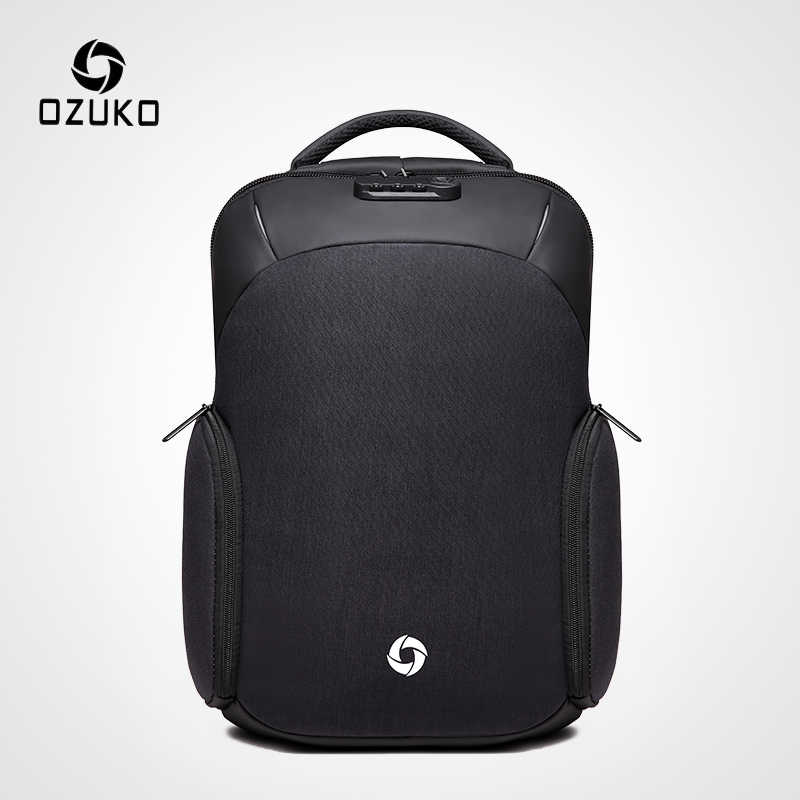 OZUKO Men's Anti theft Backpack USB Charging 15.6 inch Laptop Backpacks for Teenager Male Waterproof Travel Bag Fashion Mochila