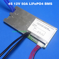LiFePO4 battery 4S 12V BMS 12.8V 50A lifepo4 batteries BMS Used for 12V 20Ah 30Ah 40Ah 50Ah battery pack With balance function