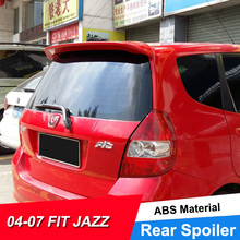 цена на JNCFORURC Rear Car Spoiler Wings Fit For Honda Fit JAZZ 2001 02 03 04 05 06 07 ABS Plastic Rear Roof Car Spoiler Wing For Jazz