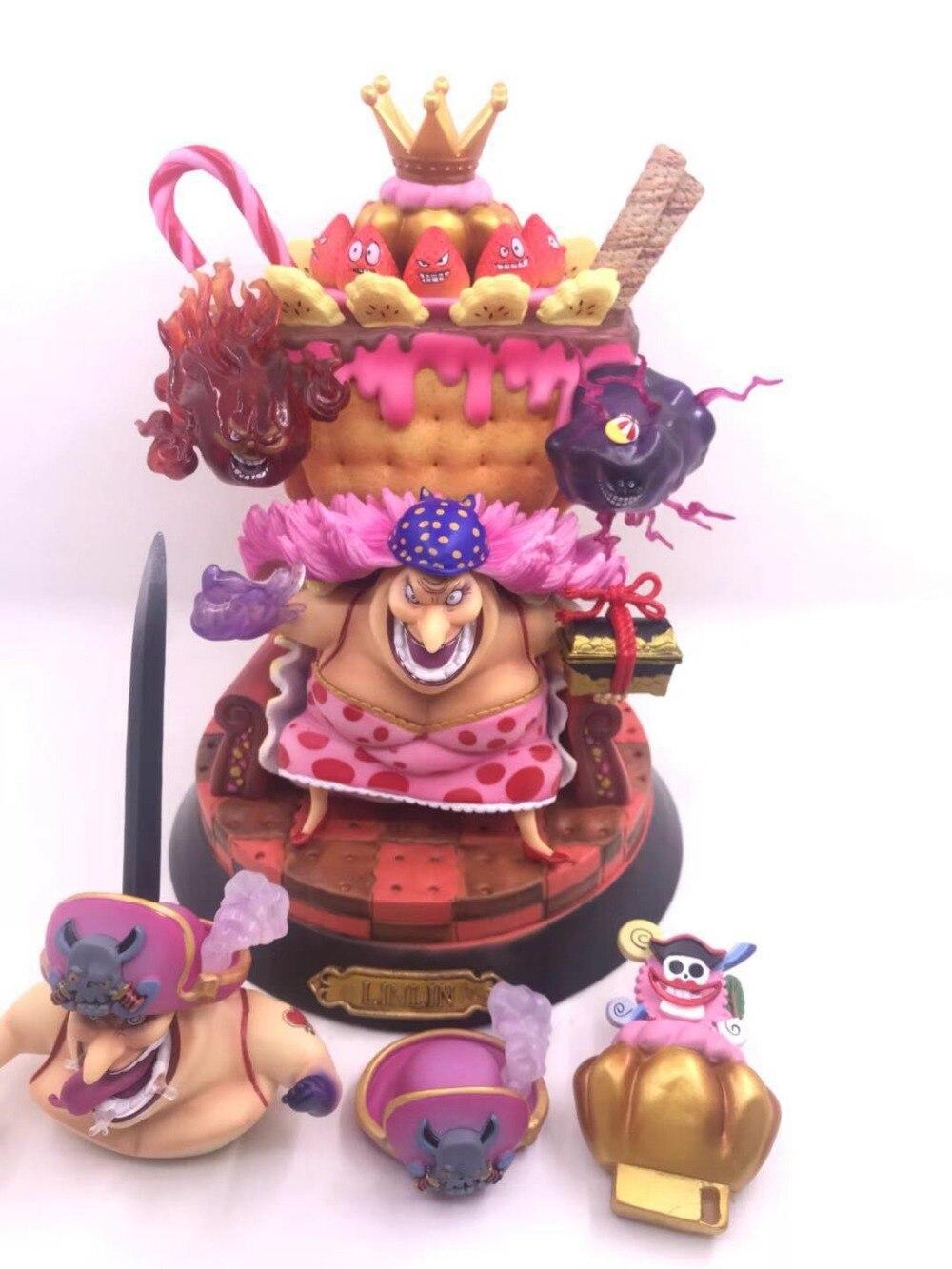 Аниме одна деталь фигурку Charlotte Linlin трон большая мама куклы украшения Коллекция фигурка рождественские игрушки, подарки 25 см