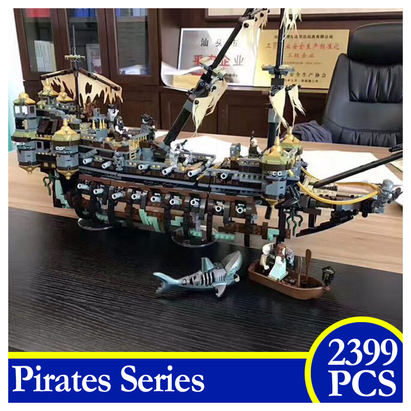 2017 NEW 51120 2399PCS Pirate Ship The Slient Mary Set Action Figures Building Block Bricks Children Gifts Compatible With LEPIN susengo pirate model toy pirate ship 857pcs building block large vessels figures kids children gift compatible with lepin
