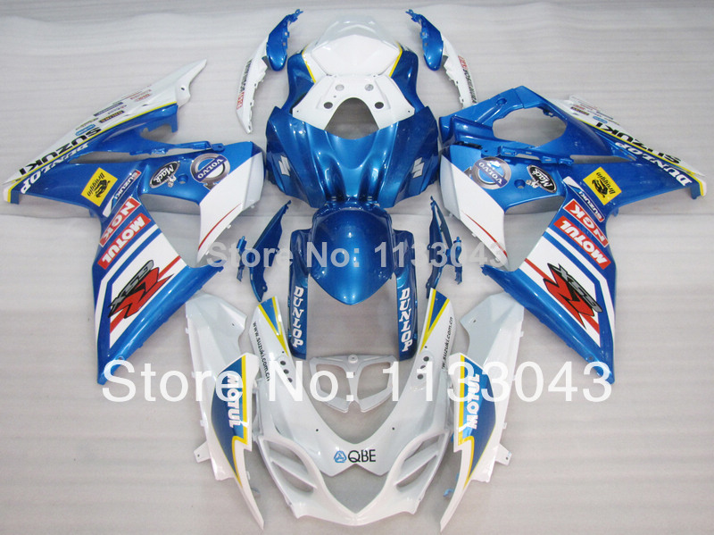 7gifts For SUZUKI GSX R1000 GSXR 1000 K9 09 10 11 12 GSXR1000 GSX-R1000 Blue White K9 2009 2010 2011 2012 Fairings