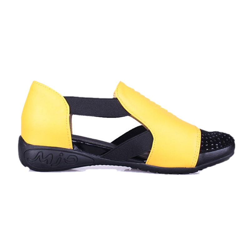 Summer Sandals Women 2018 Lady Yellow Red Shoes Woman Platform Flats Shoes Causal Rhinestone Sandals Roma Female Gladiator Shoes (9)