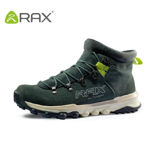 RAX hombres zapatos impermeables antideslizantes botas de los hombres al aire libre de otoño e invierno de cuero de geniune zapatos tamaño 36-44 # B2024