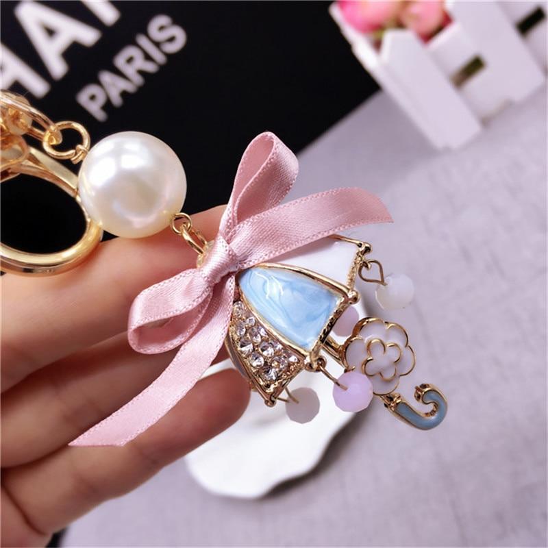 cute keychains for girls rhinestone bear keychain ...