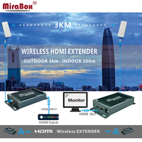 Mirabox Wireless audio Transmitter and Receive Support 1080p Full HD Transmit 3KM Outdoor by Wifi Antenna Indoor 150m Wifi HDMI