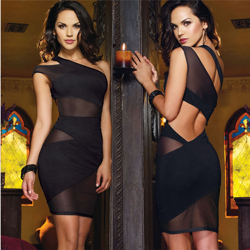 Fashion Womens Summer <font><b>Sexy</b></font> Sleeveless Plunge Deep V Bodycon <font><b>Dress</b></font> Ladies Evening Party Mini Pencil <font><b>Dress</b></font> <font><b>Plus</b></font> <font><b>Size</b></font> vestidos image