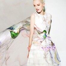 Digital inkjet silk organza satin fabric 12mm smooth and delicate shirt dress silk fabric satin wholesale silk cloth