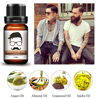 10ml Beard Essential Oil Moustache Oil Styling Moisturizing Smoothing Gentlemen Care Suitable for All Types of Beard Makeup Tools & Accessories
