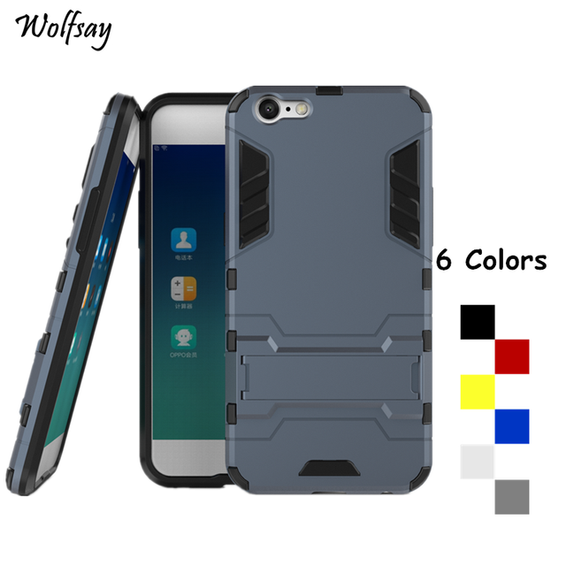 best website d5bc6 4b2dc US $2.64 38% OFF|Wolfsay Cover Oppo A57 Case Oppo A39 Case Shockproof Robot  Armor Phone Cover For Oppo A57 Phone Case For Oppo F3 Lite Shell 5.2