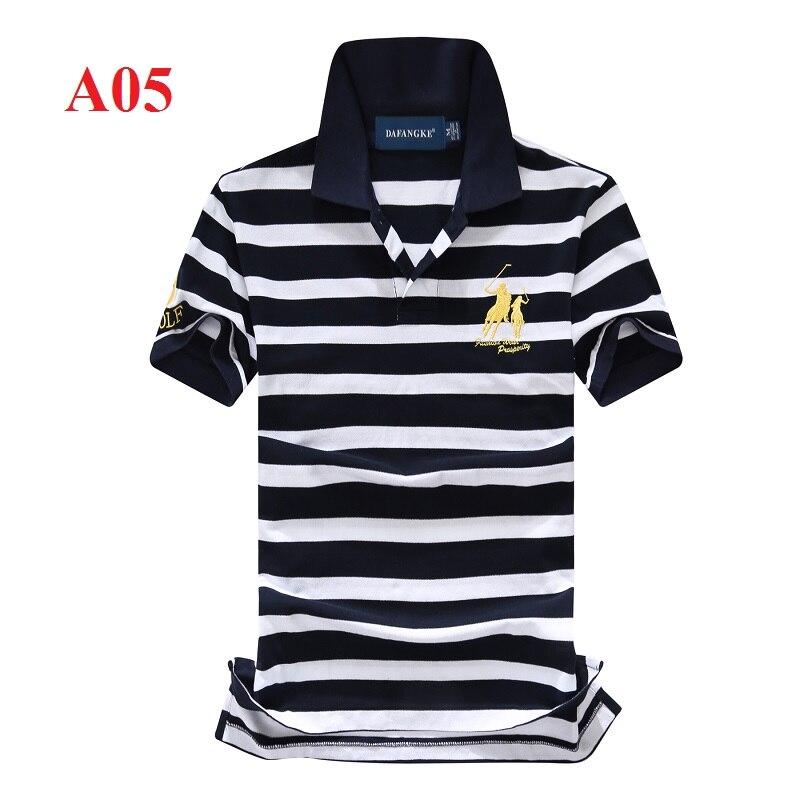 Casual Striped Men's   Polo   Shirt Slim Golf Shirts High Quality Eden Park Cotton Short-Sleeved   Polos   European Size S-2XL;YA270