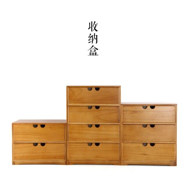 Japanese creative home storage box wooden jewelry box cosmetic