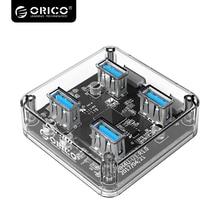 ORICO  four Ports USB3.zero Clear Desktop HUB USB three.zero Splitter With Rubber Anti-skid Pad Reserced Exterior Energy Provide MH4U