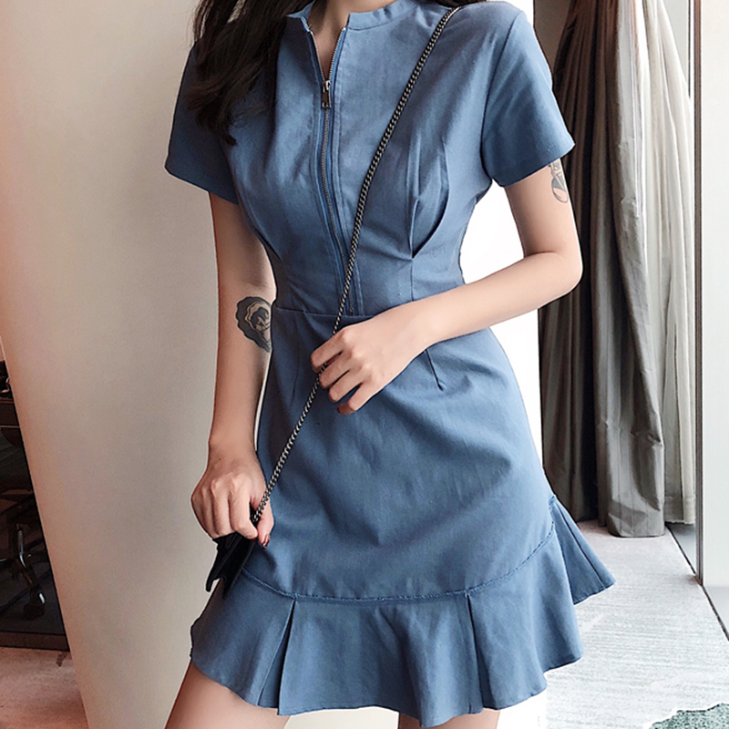 Fashion Woman Loose Plaid Dress Casual Korean Long Sleeve Midi Party Dress J/&S