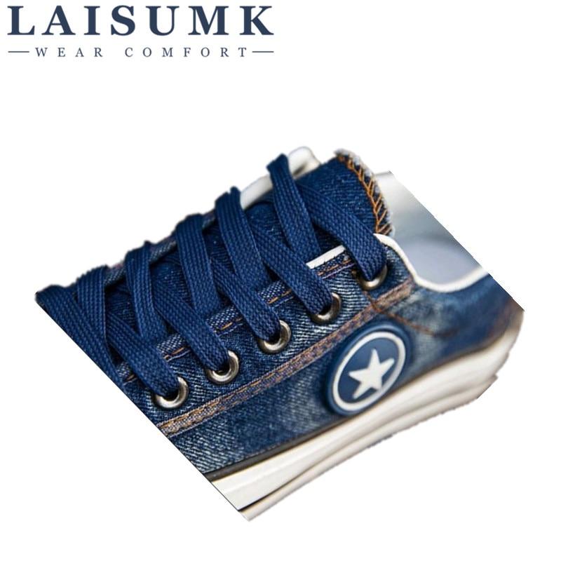 Cesta Tenis Laisumk 2017 Mezclilla Moda 44 Azul Blue Nuevos Casuales Zapatos Estrellas De Pisos Lona deep Femenino 35 Entrenadores Tamaño B7rwP7qdW