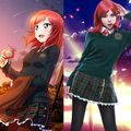LoveLive! Love Live Nishikino Maki School Uniform Dress Outfit Cosplay Costumes Sweater+Shirt+Skirt