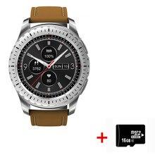 2018 Nova KingWear KW28 Smartwatch 1.3 polegada relógio Inteligente Heart Rate Monitor Remoto Anti-lost Lembrete Sedentário Câmera Inteligente relógio