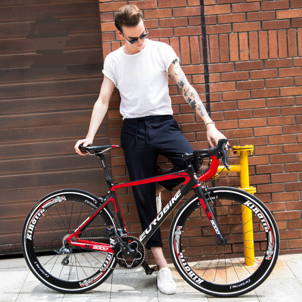New Brand Road Bike Carbon Fibre Frame 16/18/20/22 Speed 700cc Wheel Racing Cycling Bicycle Outdoor Sports Bicicleta