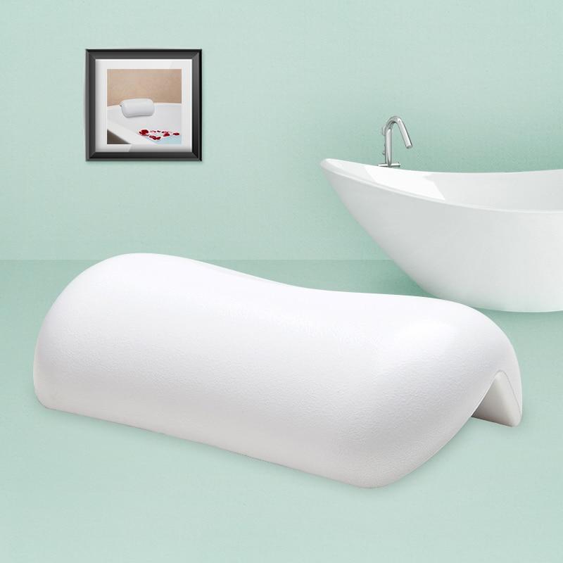 Cuarto de baño almohada bañera almohada blanco y negro impermeable ...