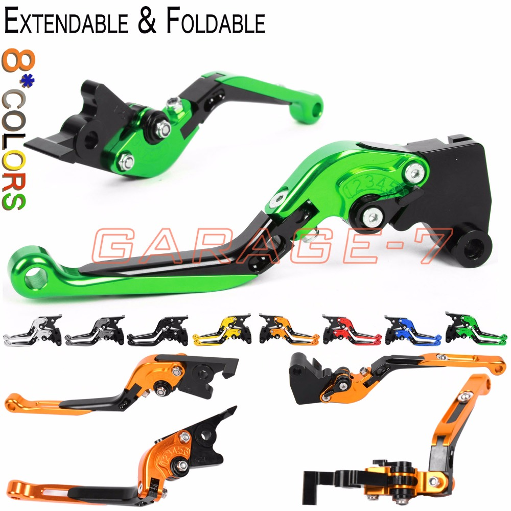 For Kawasaki NINJA 650R ER-6f ER-6n VERSYS 650cc Z750S z750 ZR-7 S Zephyr 750 CNC Moto Foldable Extending Brake Clutch Levers top quality cnc foldable folding fingers wave brake clutch levers for kawasaki ninja 650r er 6f er 6n 2006 2008 red