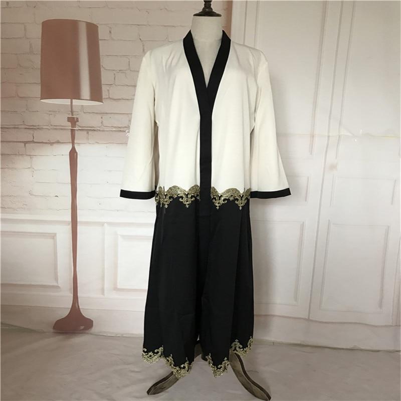 Muslim Cardigan Abaya Pakaian Turki Wanita Pakaian Panjang Pakaian - Pakaian kebangsaan - Foto 2