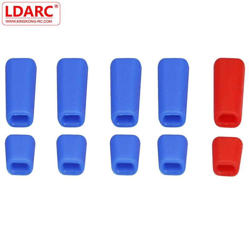 10 sztuk LDARC gumowe antypoślizgowe kij kapturek przełącznika Bule czerwony dla Frsky X9D Plus Flysky JR nadajnik radiowy zdalnie sterowanych modeli część zamienna