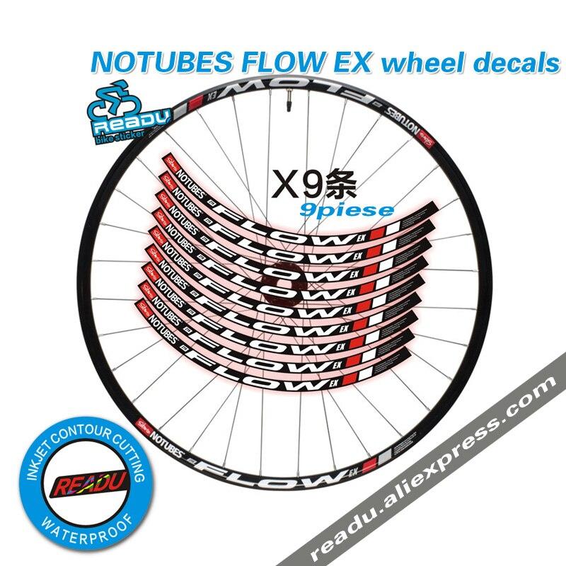 2016 NOTUBES FLUX EX roue de montagne jante autocollants VTT vélo jantes stickers roues autocollants vélo autocollants pour deux roues stickers