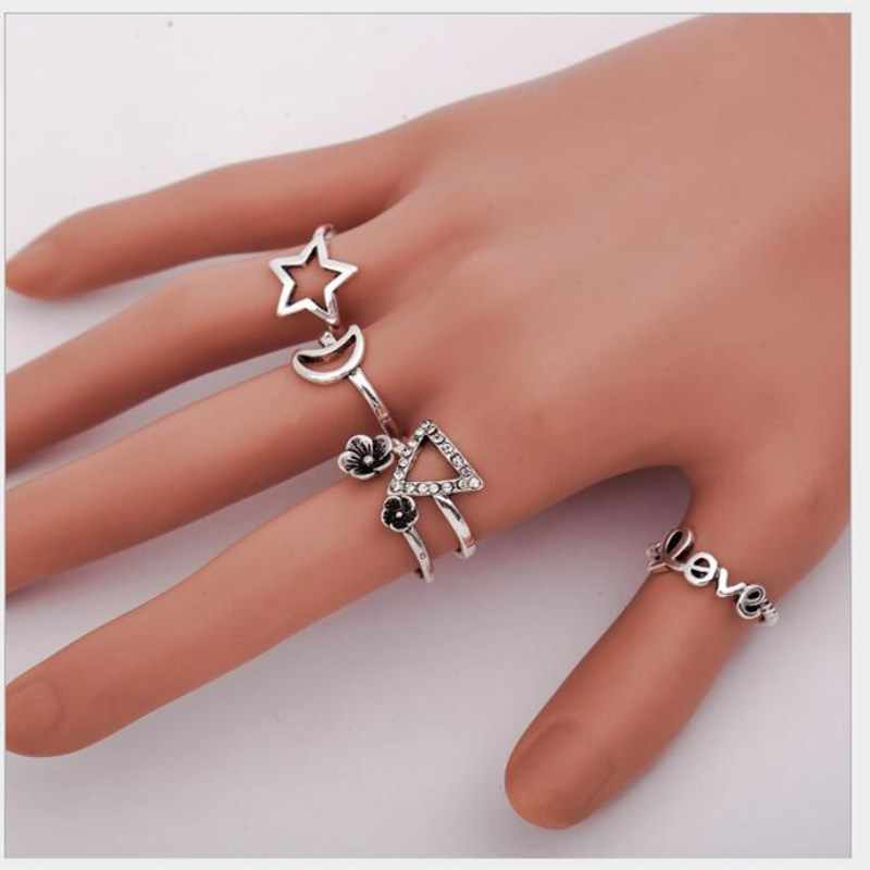 2018 Hot Sell High Quality Simple Jewelry Hollow Out Design Finger Knuckle Rings For Women Jewelry Wholesale 4RD245