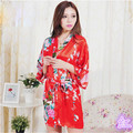 Women Robe Pajama Japanese Yukata Kimono Satin Silk Vintage Bathrobe Nightgown Sexy Lingerie Sleepwear 20pcs wholesale