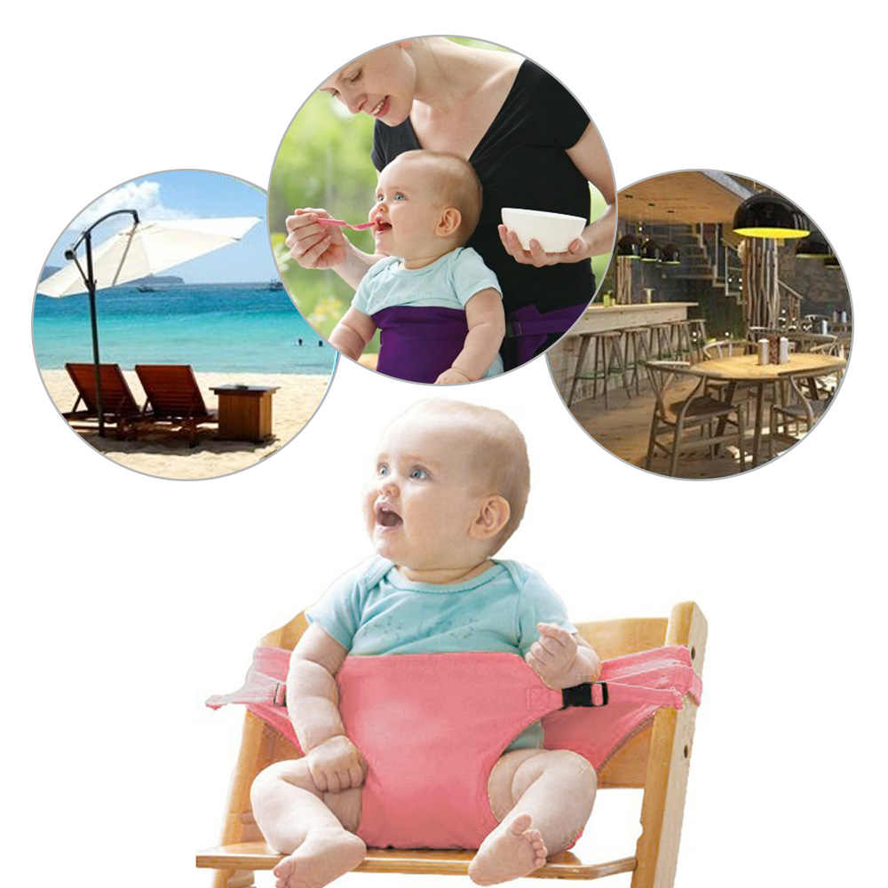 Colorful Baby Dining Lunch Seat Portable Infant Chair Safety Belt Kids Feeding High Chairs Harness Travel Baby Feeding Seats