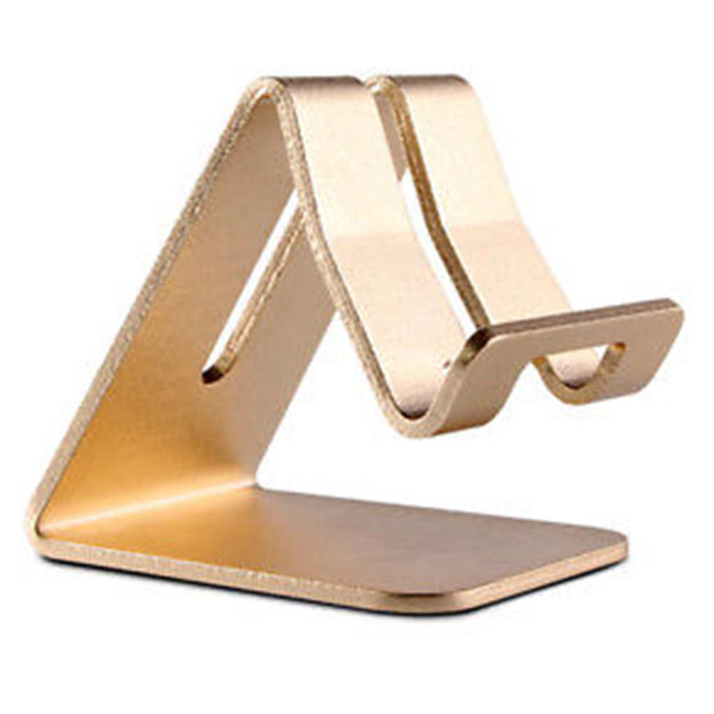 Universal Rose Gold Aluminum Alloy Smart Phone Stand Holder Stander for iPad iPh