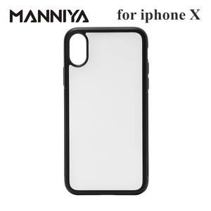 MANNIYA 2D Sublimation Blank rubber phone Case for iphone X XS with Aluminum Inserts