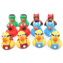 Marvel/DC Hero Series Spider-Man Hulk Captain America Shaped Duck Baby Cognitive Puzzle Toy Bathing Swimming Floating