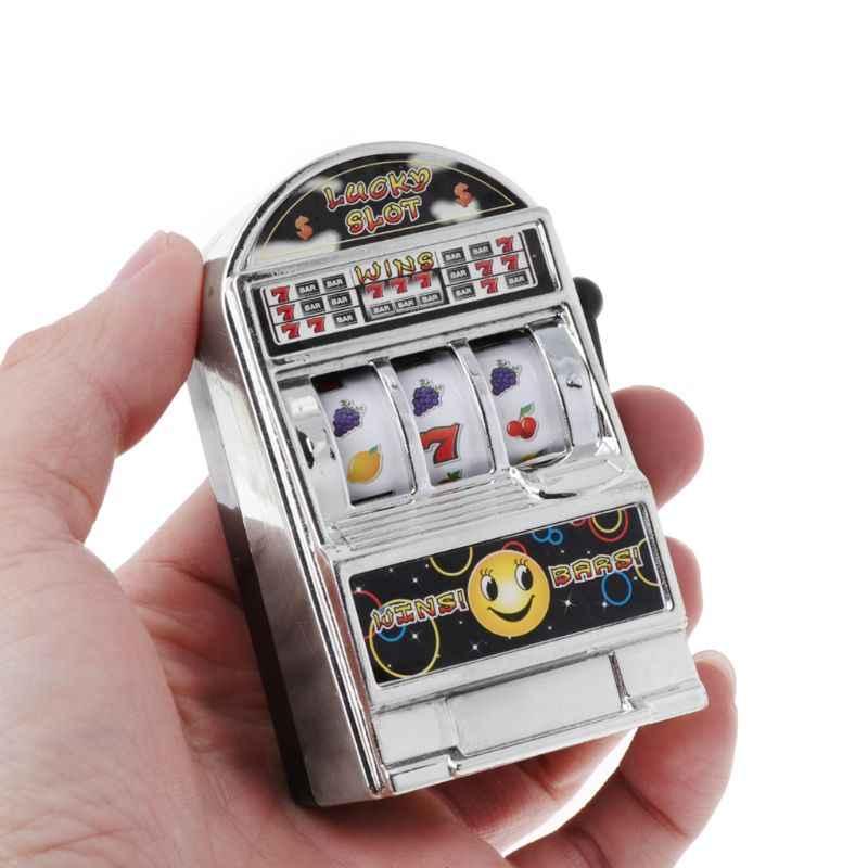 1pc 럭키 잭팟 미니 과일 슬롯 머신 재미있는 생일 선물 키즈 교육 장난감