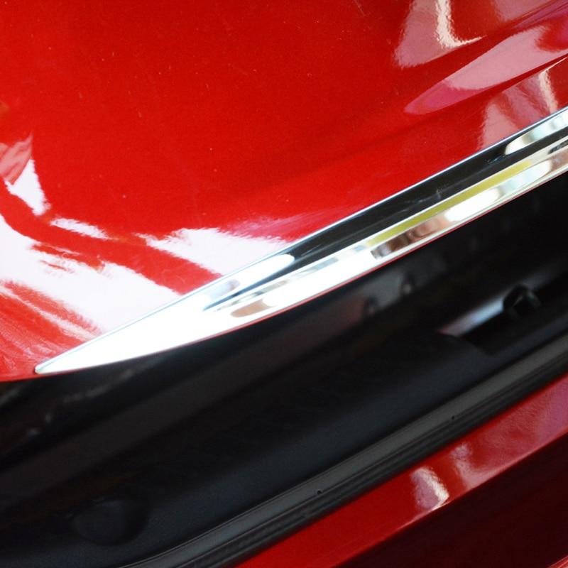 Для Mazda 3 Axela Sedan хромированная Задняя Крышка багажника задняя дверь Край крышка отделка молдинг гарнир полоса