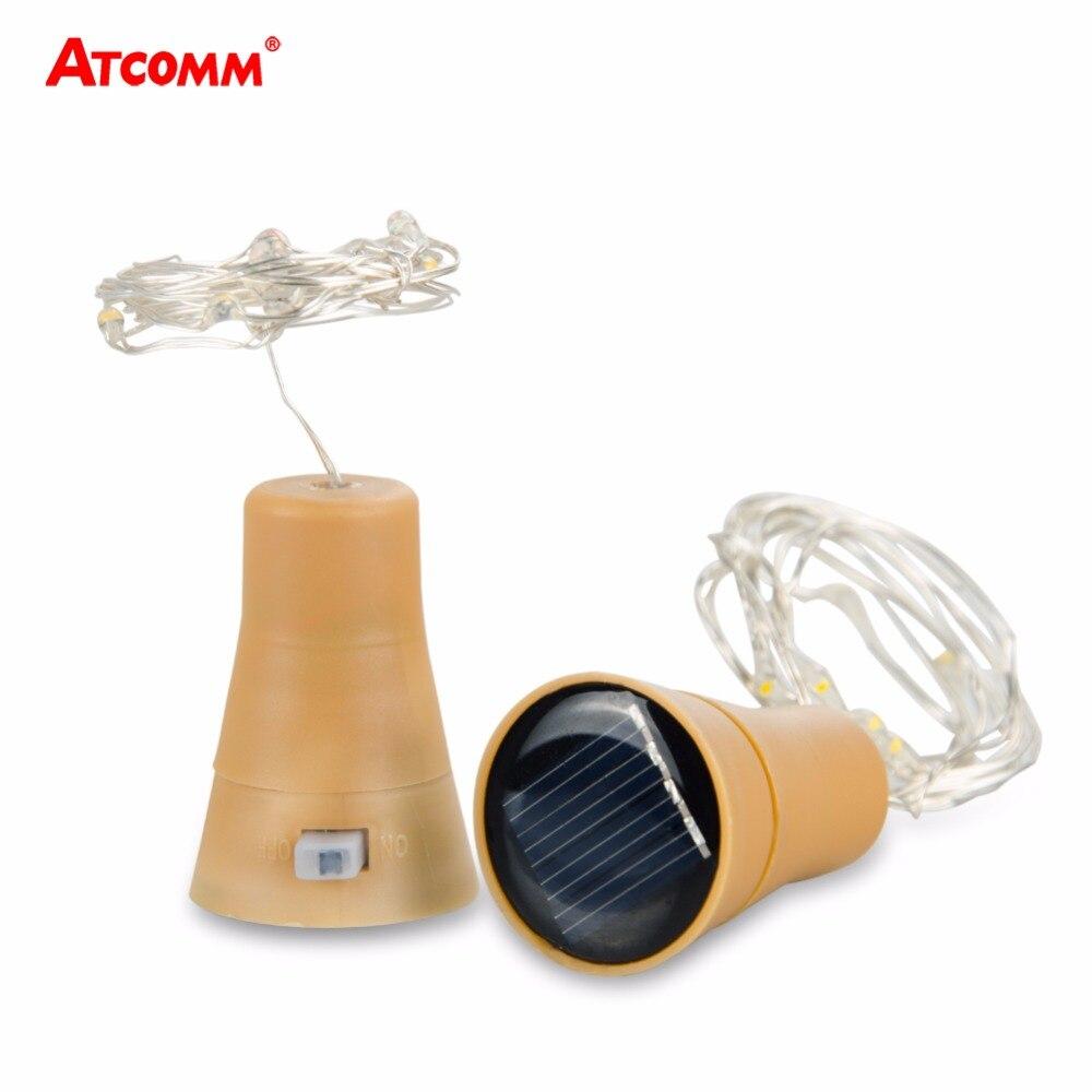 1 Meter LED Bottle Stopper String Lights LED Solar Copper W...