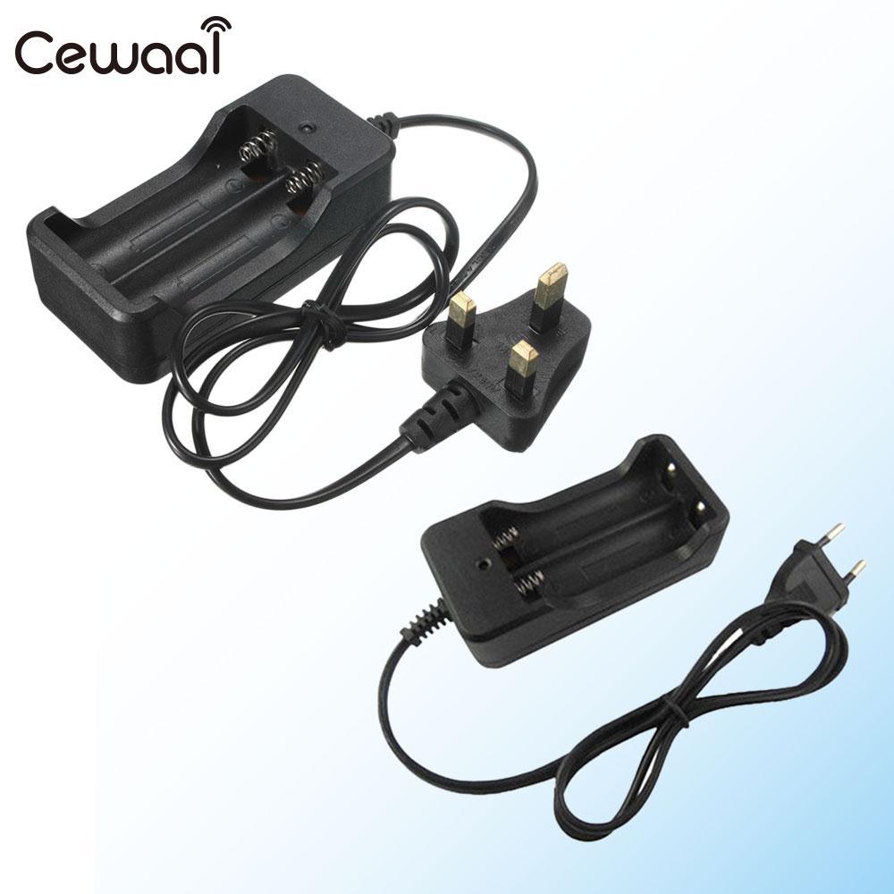 Dual Slot 18650 Li-ion Vape Lithium Battery Plug Charging Charger Rechargeable