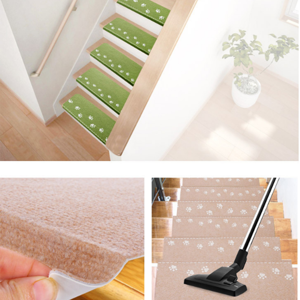 Indoor Luminous Stair Mat Cartoon Self-adhesive Carpet Safety Non-Slip Mute Floor Mats 55.5*22.5*4cm