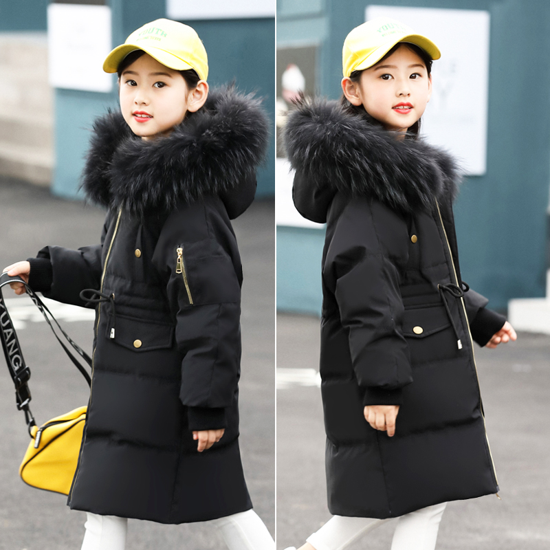 2018 Fashion Girl's Winter Jackets Coats Duck Down Russia baby Coats Thick Warm Packet Children long Outerwears Parkas-30dgree winter brand 2017 new men down jacket coats long coats dress jackets western style overcoats thick warm duck down parkas