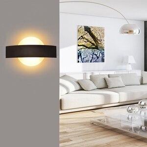 Image 5 - Feimefeiyou Lámpara LED de pared, AC85 265V, luces modernas simples para dormitorio, comedor interior del pasillo de Iluminación, Material de aluminio