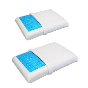 Image 1 - Memory Pillow Foam White Bed Gel Pillow Cooling Orthopedic Cushion for Sleeping Travel Neck Fatigue Relief Outdoor Tool