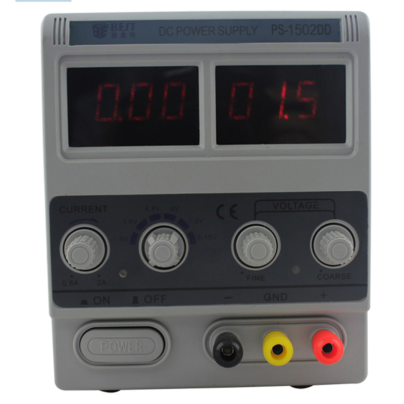 PS-1502DD 15V 2A Double LED Display Stable Voltage DC Power Supply Phones Adjustable Digital Regulated power yh 1502dd 15v 2a adjustable variable dc power supply