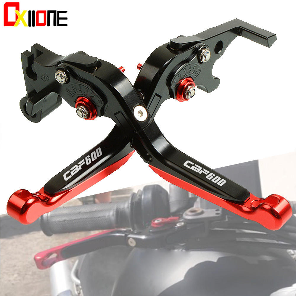 With CB600 logo CNC Adjustable Folding Extendable Motorcycle Brake Clutch Levers For Honda CBF <font><b>600</b></font> SA CBF <font><b>600</b></font> 2006 <font><b>2007</b></font> <font><b>Hornet</b></font> image